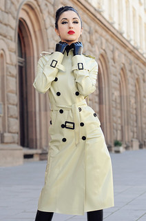 Latex trench coat
