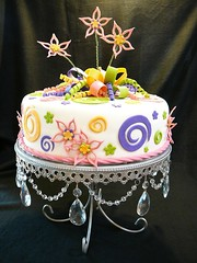 Flower Cake by Yvonne C www.birthdaycakes4free.com Twin Cities, MN
