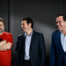 Alexis Tsipras, Oliver Stone, Slavoj Zizek
