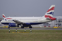 G-EUPP / Airbus A319-131 / 1295 / British Airways (A.J. Carroll) Tags: london heathrow airbus britishairways 1295 lhr 319 oneworld egll a319100 a319131 27l geupp