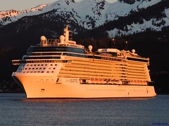 Celebrity Solstice (B737Seattle) Tags: cruise sunset celebrity water alaska boat ship vessel x juneau solstice ms luxury channel cruises gastineau