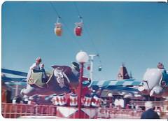 me and my mom. dumbo ride disney world 1970's (timp37) Tags: world elephant film me mom flying photo tim dad ride florida dumbo disney 70s 1970s walt putala
