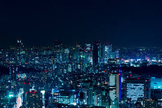 Shinjyuku Night - from Roppingi Hills Tokyo City View