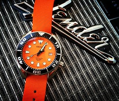 Seiko SBDC005 Sumo (Fana ) Tags: seiko sbdc005 sumo montre timepiece hour horloge wristwatch watch watches automatic automatique orange dial diver plongeuse nato scuba watchelse fanawatches seikodiver bracelets straps skx casio holidays intrieur fender