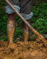 Plowing Red Mud (Subir Thapa) Tags: nepal nepali travel canon asia summer monsoon explore