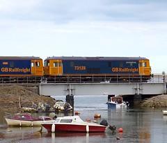 WTF ! (Stapleton Road) Tags: train railway locomotive railtour wilderbeast dawlish cockwood class73 electrodiesel 73128