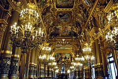 Golden Hall (EmperorNorton47) Tags: operagarnier paris iledefrance france photo digital autumn fall gold hallway reception promenade tourists chandeliers