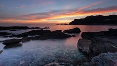 Melting into the sea... (Tomohiro Urakawa) Tags:    sunset dusk