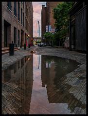 Morgan Street Alley and the Gateway Arch - No. 2 (Nikon66) Tags: gatewayarch alley lacledeslanding stlouis missouri nikon d800 sigma20mmartlens