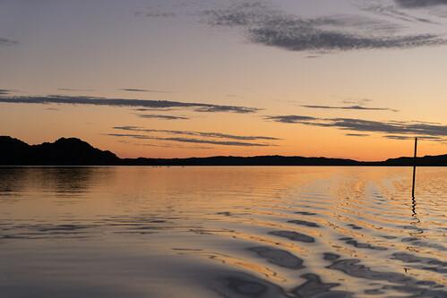 Calm sunset at sea