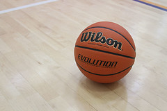 Wilson basketball on indoor court (yourbestdigs) Tags: indoors court closeup leisure floor ball orange grip team macro equipment recreation over basket wood round up lines close gym basketball arena competition wooden play exercise detail game