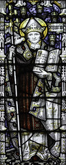 St Gregory Honours Our Lady (Lawrence OP) Tags: saints gregorythegreat stainedglass window saint pope doctorofthechurch dove holyspirit kempe chant reginacaeli burford ourlady gregorian
