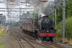 Chelford Scot (wwatfam) Tags: 46115 scots guardsman express passenger steam locomotive fowler stanier rebuilt royal trains railways railroad excursion passing loop chelford cheshire england britain