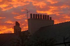 Chimney Pots (eric robb niven) Tags: ericrobbniven scotland sunset chimney pots summer dundee