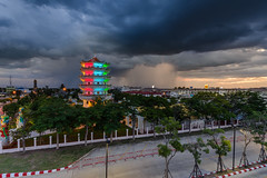 Stormy Suphanburi (TOYTOMORN) Tags: cloud storm clouds storms watching landscape outdoor pics weather photo weatherphoto dark darkclouds skies darkskies sky light colour stormyday city lights citylight night colorful color photography nikon d610 d600 wide angle tamron nature water dream thai rain 15mm f16 dusk dslr amateur wideangle nikond610 tamron1530 thailand view