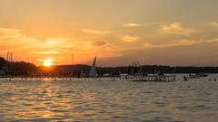Madison Sunset Jump [Explore August 29 2016] (redfurwolf) Tags: madison lake mendota usa wisconsin water sunset boat redfurwolf light outdoor peer sony rx100m4