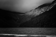 Pleasant light (Landscapeaddict) Tags: light monochrome blackandwhite greyscale mountains sunrise valley water lake lough glendalough wicklow discoverireland ireland