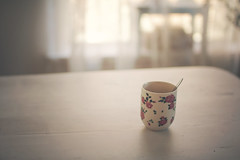 Rosy glow (Laura Marianne) Tags: morningscene coffee light window gloom cup onthetable stilllife moments mood littlethings simplicity soft