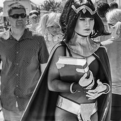Comic Con 2016-335 (rmc sutton) Tags: comiccon2016 comiccon cosplayer walking sandiego series photoseries photographicseries blackandwhite bw monochrome crowd