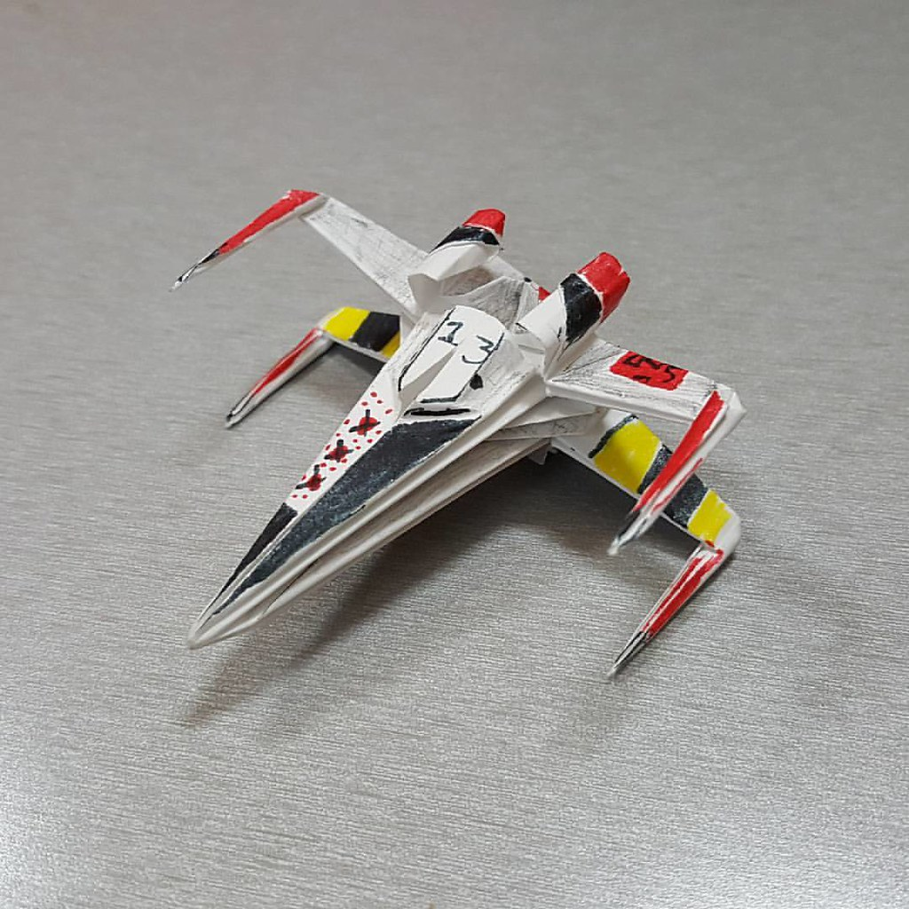 The worlds best photos of origami and starwars flickr hive mind x wing design by shu sugamata joigami tags xwing starwars sculpture jeuxipadfo Images