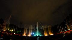 Indira Gandhi Musical Fountain (briejeshpatel) Tags: briejeshpatel canon canon7d l lens brijesh patel india karnataka musicalfountain indiragandhimusicalfountain nightphotography longexposure nightshots bangalore water fountain lights samyang 8mm fisheye samyang8mmfisheye 180