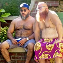 IMG_7881 (danimaniacs) Tags: party shirtless man guy sexy hot bear beard scruff hat cap hairy pierced bald