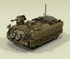 """Guardian"" Armoured Personnel Carrier (-Lee Barton-) Tags: lego ldd lddtopovray tank military apc armouredpersonnelcarrier povray guardian"