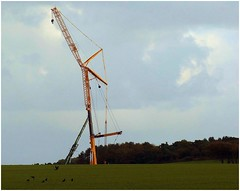 Things to come. (brian.batters (B-C-B)) Tags: newtondown porthcawl windturbine thebeacons