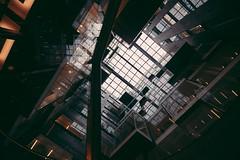 The Alphaverse (Panda1339) Tags: 2016 openhouse architecture openhouselondon alphabeta london uk light roof sortofdarkbeige nikon 14mm lookup universeiscrooked theresareflectionthingy abstract chaos exploreno10
