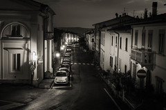 Barberino Val D'elsa (mike-mojopin) Tags: tuscany italy bw blackandwhite night street