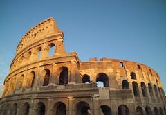 Colosseo (Diego Innocenti) Tags: hs20 hs20exr rome roma italy italia colosseo coliseum sunset shadow shadows sky bluesky monument