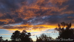 October 3, 2016 - A stunning sunset above Thornton. (ThorntonWeather.com)