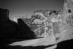 portugal 2016 (SimonSawSunlight) Tags: black white documentary photography road trip portugal 2016 mourao 35mm f2 ruins castle castelo moorish