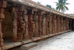 Corridor of carved pillars (VinayakH) Tags: bhoganandeeshwaratemple karnataka india temple nandihills chikkaballapura chola ganga hoysala tipusultan religious historic