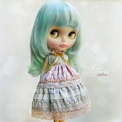 UNICORN DREAMS  Collection 💙 Dream 1 Ooak Exclusive Dress By Odd Princess Atelier 💞  #blythe #blythedress #oddprincessdolls #OddPrincess #doll #dress