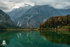 Autumn in the mountains (SYNAPSTIC photography) Tags: nikon d750 fx austria sterreich lake almsee almtal colours autumn fall clouds trees forest wood reflection