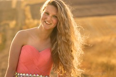 Adara (austinspace) Tags: woman portrait model cheney spokane washington field farm blond blonde bride dress prom wheat stubble sunset dusk magichour freckle freckles