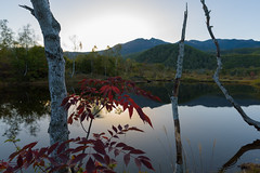 3Maime Pond (anglo10) Tags: japan     field   sunset   mountain  autumnleaves