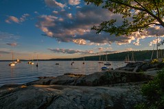 Rockport Sunset (Bud in Wells, Maine) Tags: rockport maine sunset boats clouds atlantic coast newengland seascape