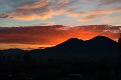 Good morning Naples (Francesco dP) Tags: buongiorno alba dawn napoli citta vesuvio vulcano mare nuvole sky cielo arancione orange landscape skyline meraviglie inizio giorno mattina start day nuovo speranza rosso panorama guardare see emozioni