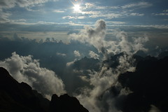 top of Indochina (silviaalexe28) Tags: fansipan mountains roofop skies peaks sunshine sunset blindness