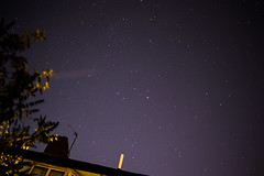 Inner-city light polution (PatrickJamesB) Tags: night time dark low light stars sky house roof trees starry black evening midnight nightfall starscape 80d canon dslr
