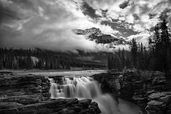 Epitope (Art-hax) Tags: trees canada sky landscape nature black white canon waterfall mountain edmonton wildlife jasper markii bampw