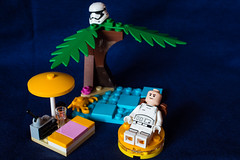 Unusual (Yannis_K) Tags: unusual flickrfriday lego summertime summer firstorder stormtrooper relaxing beach desertisland umbrella cocktail radio sunbathing rubberring floating yannisk nikond7100 nikon35mmf18dx starwars