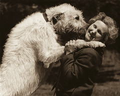 My Mother with her wolfhound, Micko (Omnishots.) Tags: white mother wolfhound 1960 micko omhishots