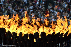 Olympic Flame (Holfo) Tags: uk greatbritain england london fire nikon dof stadium flames flame olympic tradition iconic 2012 d5100