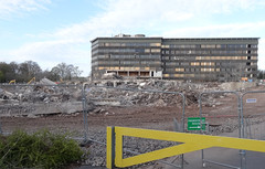 Demolition County Hall Croesyceiliog, Cwmbran 4 May 2013 (Cold War Warrior) Tags: demolition countyhall monmouthshire cwmbran croesyceiliog
