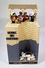 THIS IS SPARTA!!!!!!!!!!!!! (Project Azazel) Tags: greek google comic greece pa warrior sparta 300 custom spartan ancientgreece leonidas googleimages legofilm frankmillers300 300spartans thisissparta legocustom greeklego legocomic legohistory historic