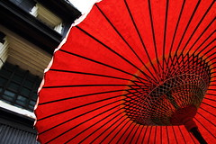 Traditional Red (Teruhide Tomori) Tags: red japan paper parasol  tradition