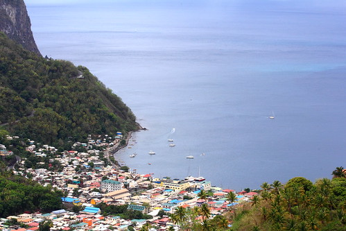 Village at the base of the Pitons caribbean